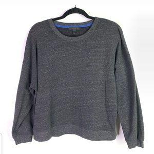 J Crew Womens Sz L Sweater Top Charcoal Gray Heath